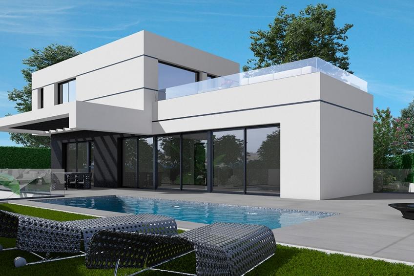 Villas op grote perceel met privézwembad in Polop (  Polop-La Nucía Alicante Spanje )