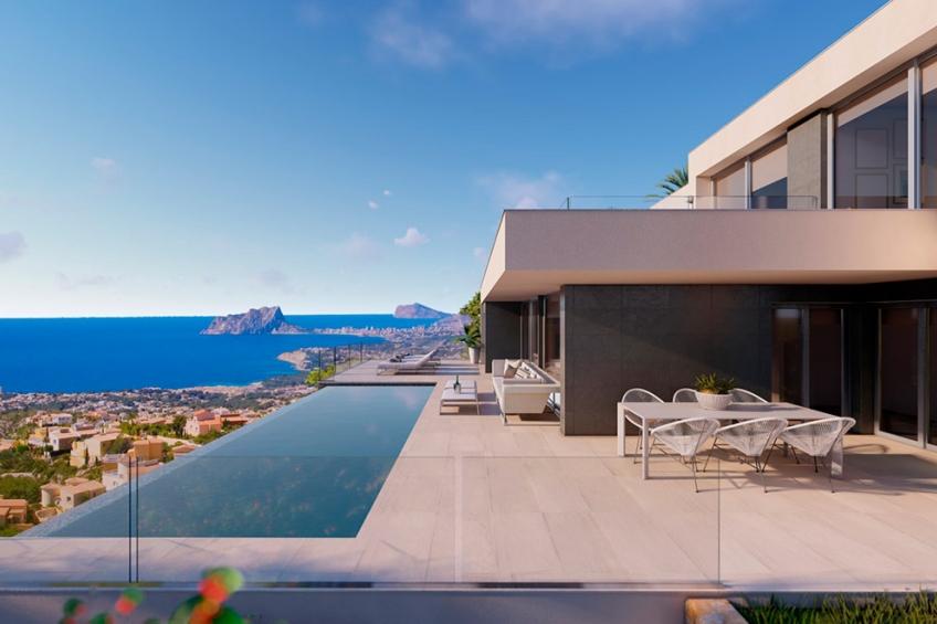 Luxueuze villa met uitzicht op zee in Cumbre del Sol (  Benitachell Alicante Spanje )