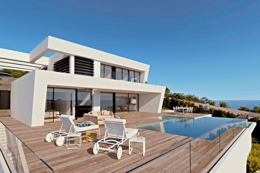 Designvilla met 4 slaapkamers en een fantastisch uitzicht op zee in Cumbre del Sol (  Benitachell Alicante Spanje )
