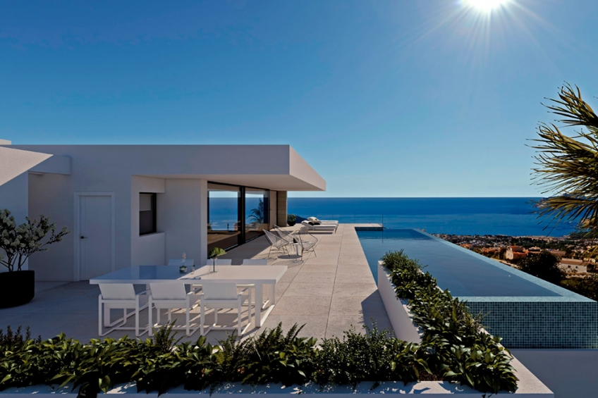 Exclusieve villa met panoramisch uitzicht op zee in Cumbre del Sol (  Benitachell Alicante Spanje )