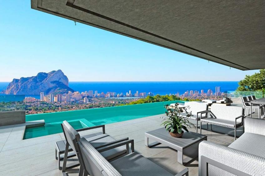 Luxe design villa met spectaculair uitzicht op zee in Benissa (  Benissa Alicante Spanje )