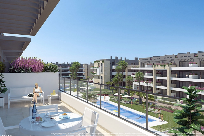Appartement en groot terras in Playa Flamenca, Orihuela Costa ( Playa Flamenca Orihuela Costa Alicante Spanje )
