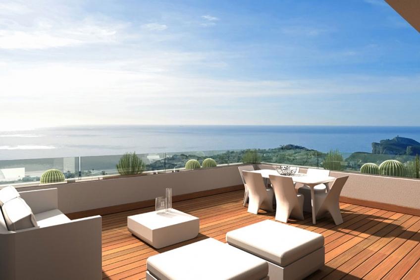 Luxe appartement met 3 slaapkamers en uitzicht op zee (  Benitachell Alicante Spanje )