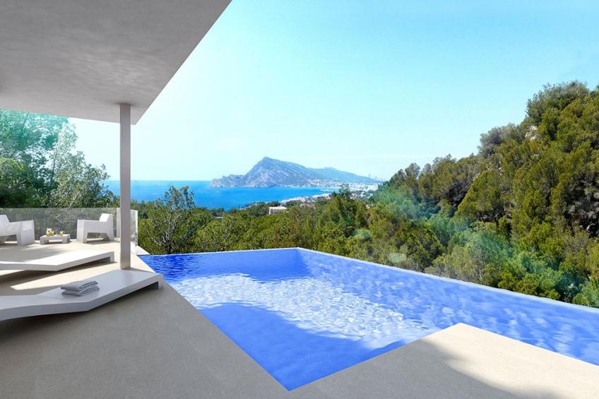 Luxe villa met zeezicht in Altea hills (  Altea Alicante Spanje )