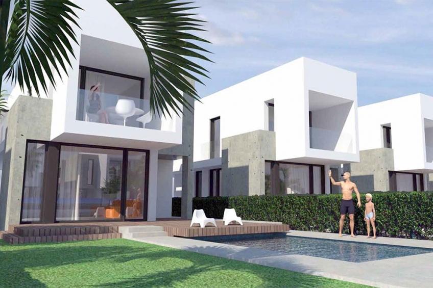 Moderne vrijstaande villa met 3 slaapkamers op 400 meter van het strand in La Marina  (  La Marina Alicante Spanje )