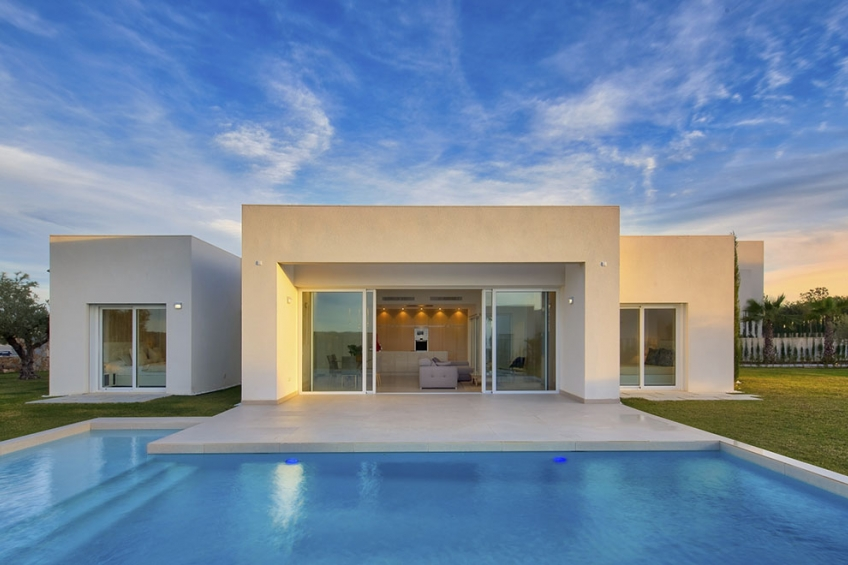 Moderne design villa's met privé zwembad in het exclusieve Las Colinas Golf resort ( Las Colinas Golf Orihuela Costa Alicante Spanje )