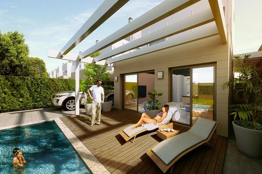 Vrijstaande villa's met eigen zwembad in La Serena Golf, Los Alcázares (  Los Alcázares Murcia Spanje )