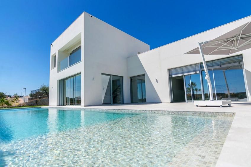 SLEUTEL KLAAR! Exclusieve eerstelijns golfvilla met panoramisch uitzicht op zee in Las Colinas Golf ( Las Colinas Golf Orihuela Costa Alicante Spanje )