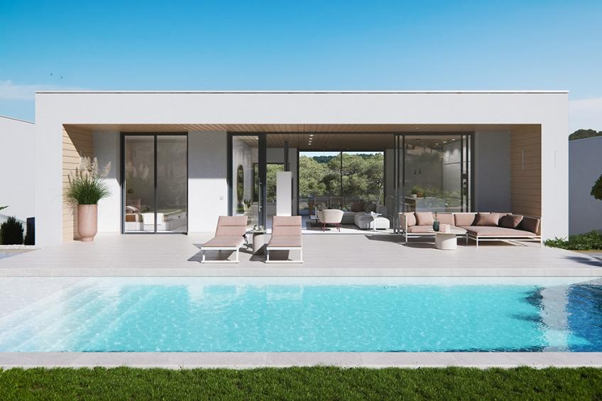 Moderne villa's met kelder en privézwembad in het exclusieve resort Las Colinas Golf ( Las Colinas Golf Orihuela Costa Alicante Spanje )