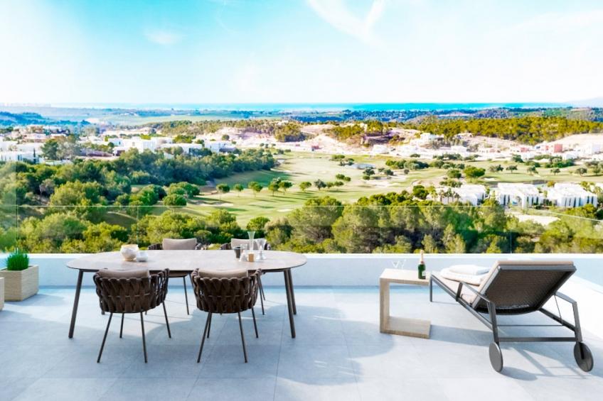 Appartement op de middelste verdieping met 3 slaapkamers en uitzicht op zee in Las Colinas Golf ( Las Colinas Golf Orihuela Costa Alicante Spanje )
