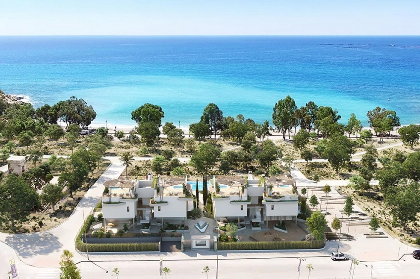 Luxe appartementen met groot terras aan het strand in Villajoyosa (  Villajoyosa Alicante Spanje )